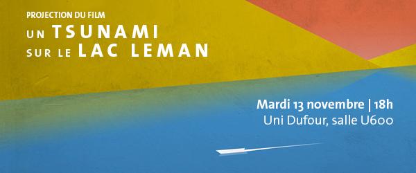 Projection du film un Tsunami sur le lac Léman